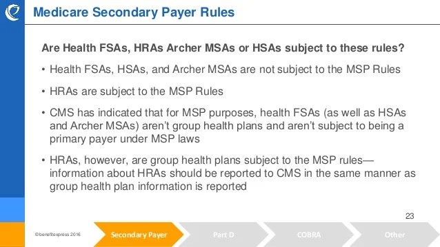 Medicare Rule Review: Overview of Secondary Payers