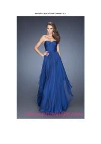 Beautiful colors of prom dresses 2015