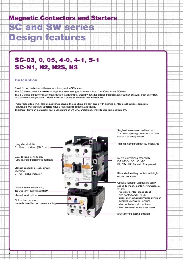 wiring diagram for contactor and overload 2002 pt cruiser radio catalog fuji electric - beeteco.com
