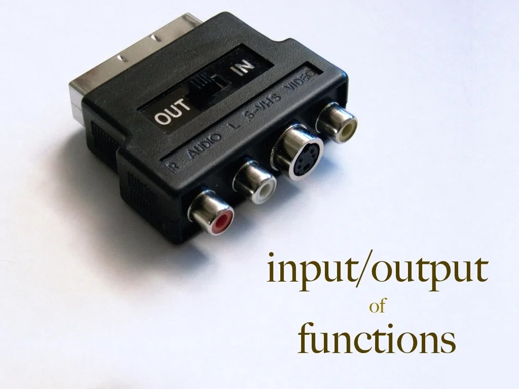 Input Output Of Functions