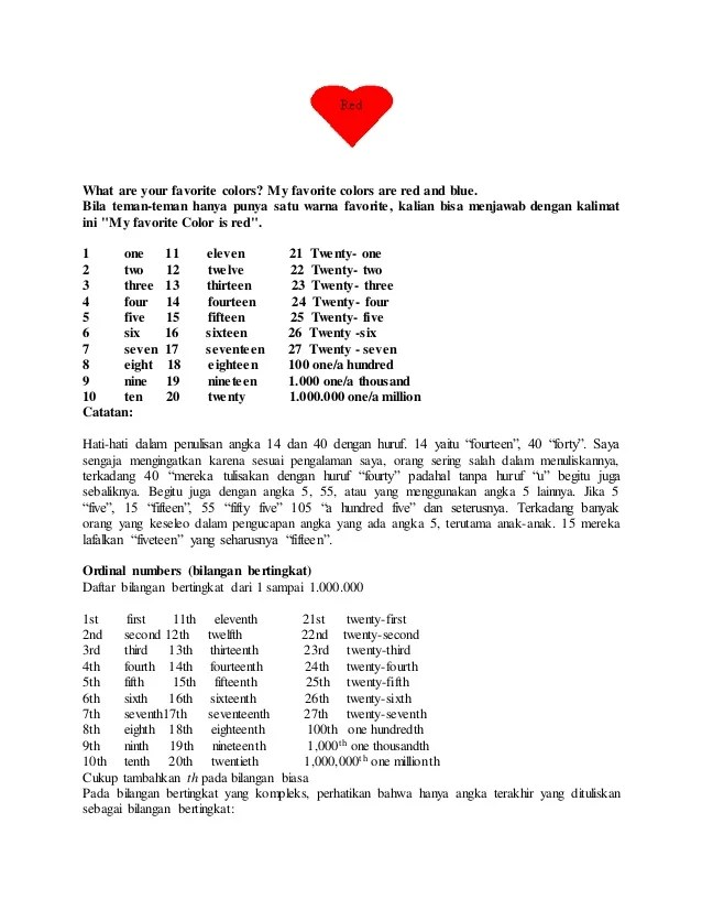 Bahasa Inggris Angka 12 : bahasa, inggris, angka, Daftar, Angka, Sampai, Dalam, Bahasa, Inggris, Harmoni, Cute766