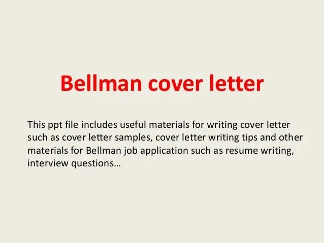 Bellman cover letter