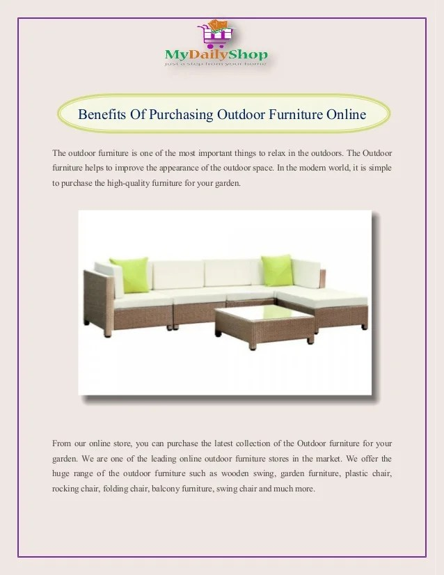 swing chair benefits picnic time reclining camp of purchasing outdoor furniture online the is one most important things