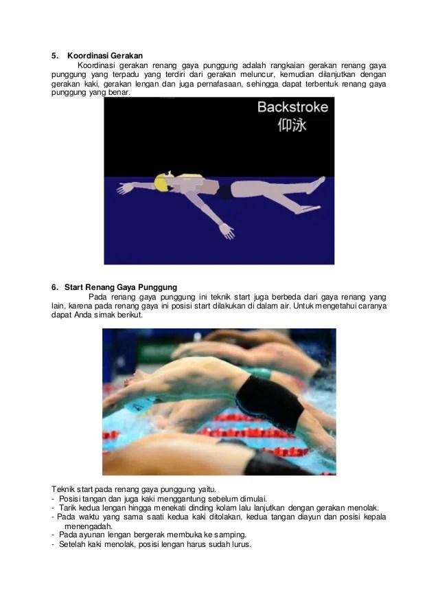 Gerakan Kaki Renang Gaya Punggung Dimulai Dari : gerakan, renang, punggung, dimulai, Berenang, Punggung