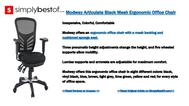 best inexpensive ergonomic office chairs chair covers hire in surrey the 8 2 modway articulate black mesh