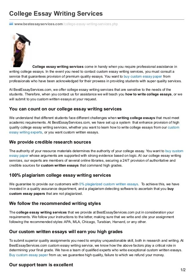 college essay service - Fast.lunchrock.co