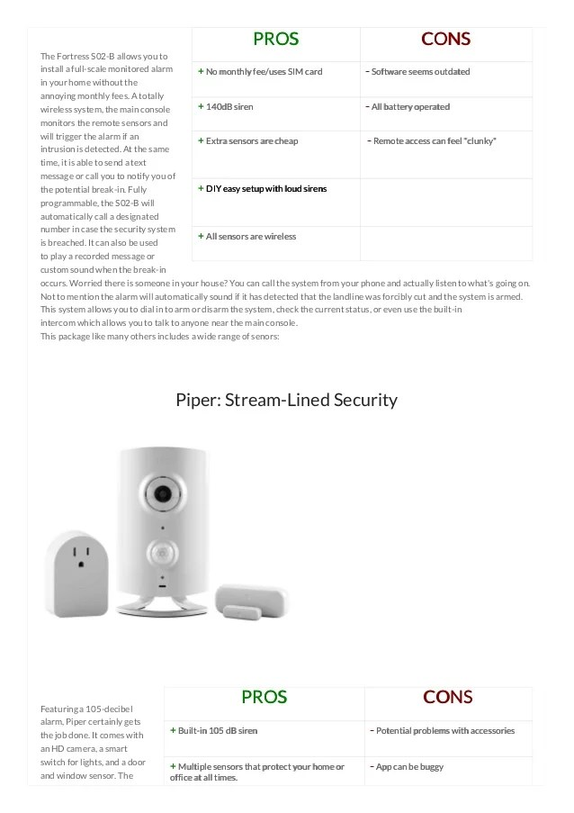 Home Security Systems Comparison