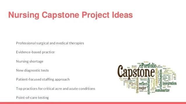 Best Nursing Capstone Project Topics