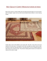 Best quality carpet manufacturers in india