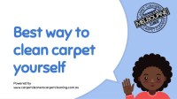 Best way to clean carpet yourself