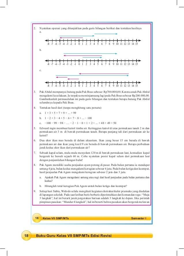 Kunci Jawaban Matematika Kelas 7 Semester 1 Buku Lks Kunci Jawaban Buku Matematika Kelas 7 Semester 1 Peranti Guru Buku Siswa Matematika Kelas Vii Smp Mts Kurikulum 2013 Ditulis Dengan Berdasarkan