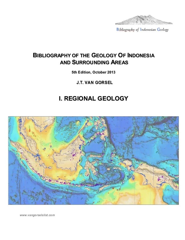 Bibliography Of The Geology Of Indonesia And Surrounding Areas