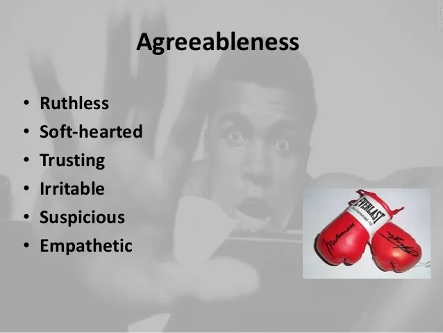 Big 5 personality traits Muhammad Ali