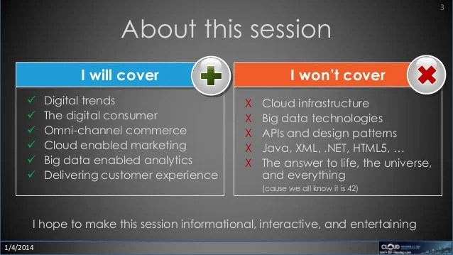 Big data and the consumer experience cloud expo 2013