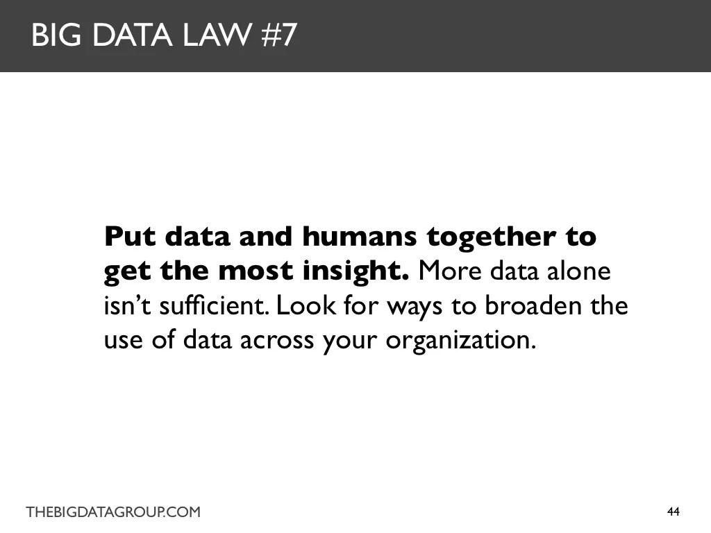 BIG DATA LAW #8 Big