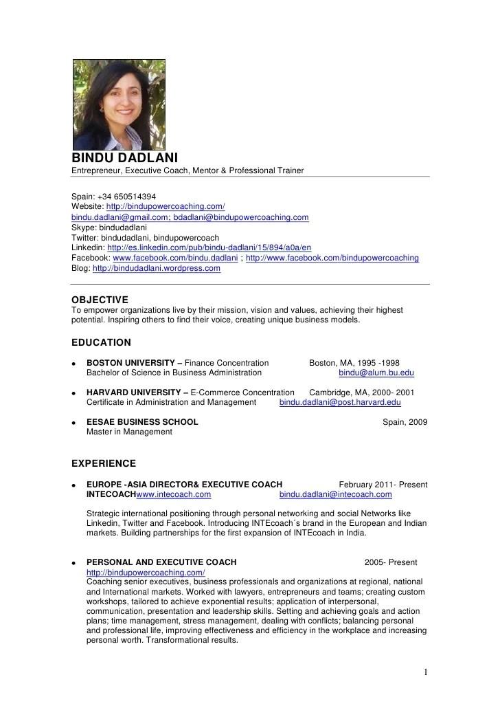 English Cv Format For Cv Resume