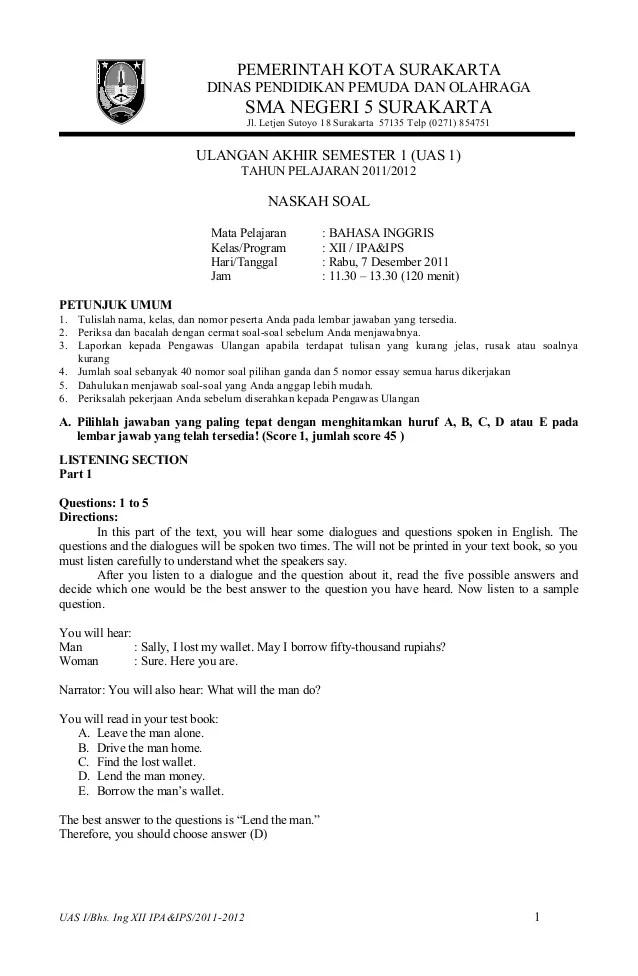 Contoh Soal Pilihan Ganda Job Vacancy Contoh Ik Cute766