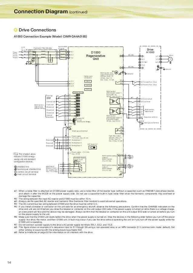 Ac Capacitor Wiring Diagram Biến Tần Yaskawa D1000 Biến Tần Hiệu Suất Cao V 224 Tiết