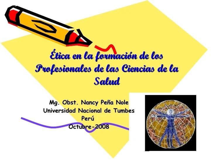 Bioetica En La Formacion Profesional De Las Ciencias De La