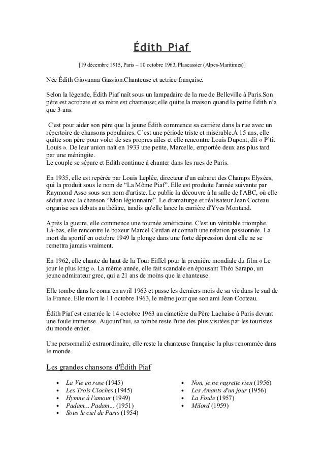 La Foule Edith Piaf Paroles : foule, edith, paroles, Édith