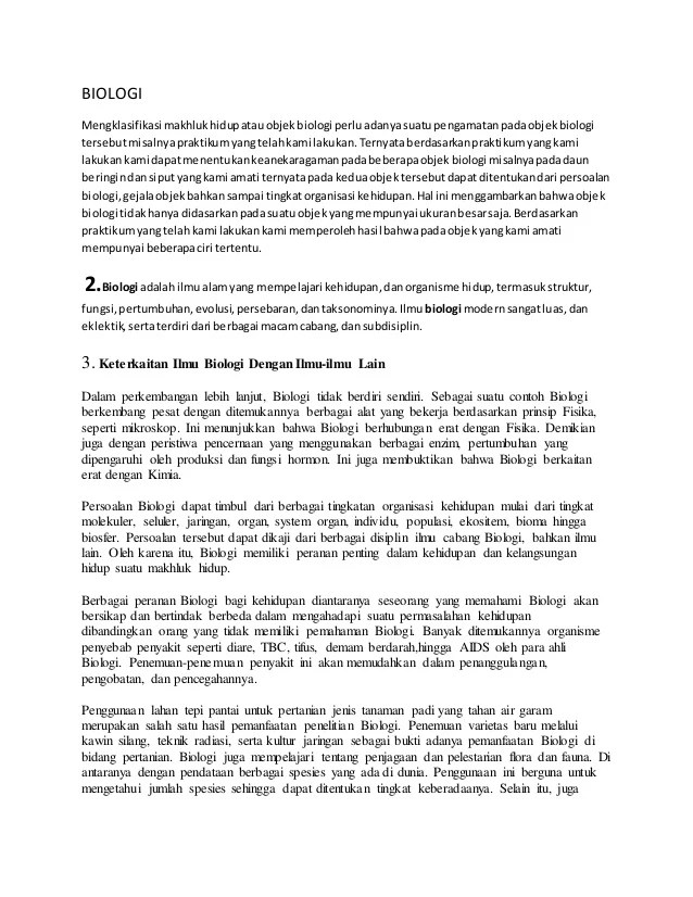 Peranan Biologi Dalam Berbagai Bidang : peranan, biologi, dalam, berbagai, bidang, Biologi