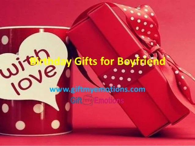 Happy Birthday Gifts For Boyfriend