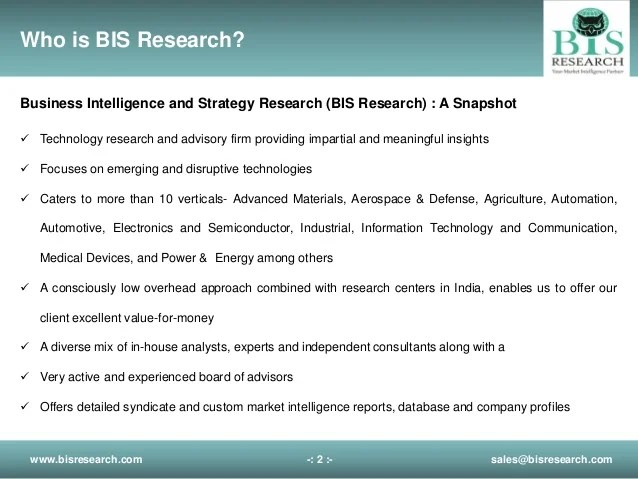 Bis Business Intelligence And Strategy Research Profile