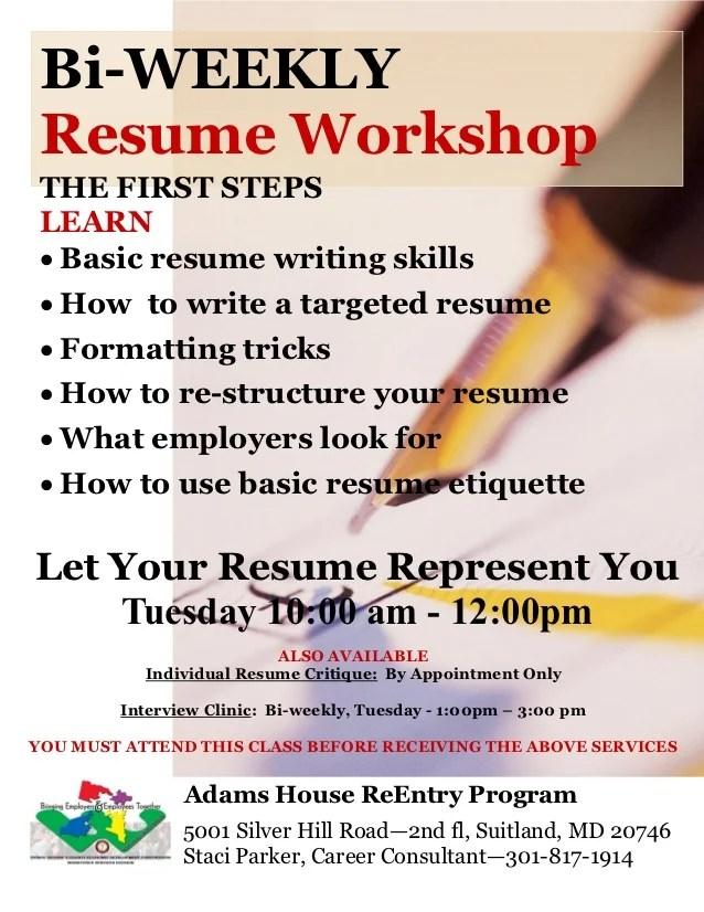 Resume Writing Class Resume Ideas