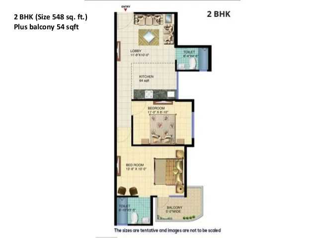 3BHK flats only for management qoua 645 + 100 = 745 Sqft