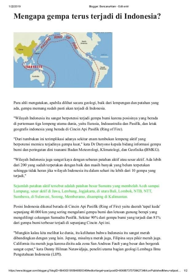 Posisi Geologi Di Jepang Yang Berada Pada Ring Of Fire Menyebabkan Wilayah Jepang : posisi, geologi, jepang, berada, menyebabkan, wilayah, Mengapa, Diindonesia, Sering, Terjadi, Bencana