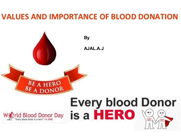Blood And Donation Facts