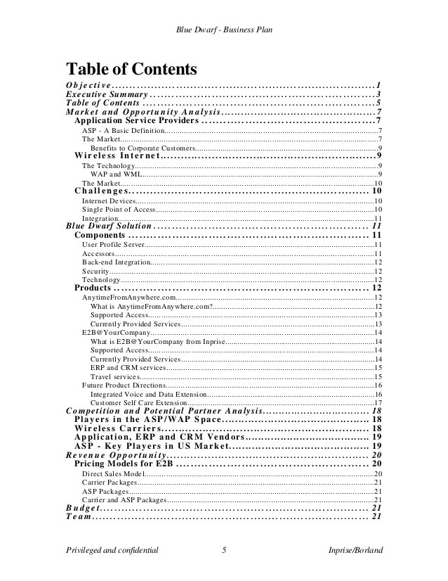 Table of contents business plan example microfinanceindia business plan table of contents template manqal enes co cheaphphosting Images