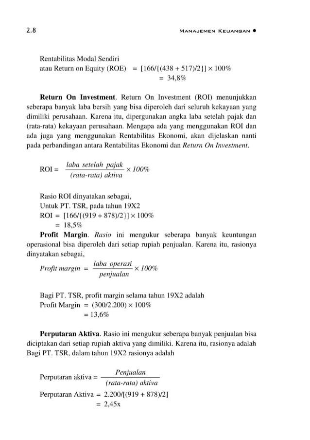 Contoh Soal Manajemen Keuangan 2 Struktur Modal Mathlaul Khairiyah