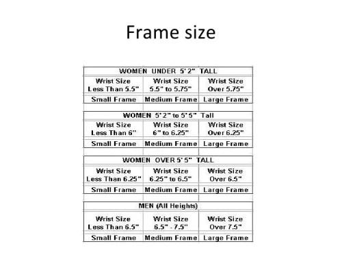 Bmi Calculator Small Frame Size | Framejdi.org