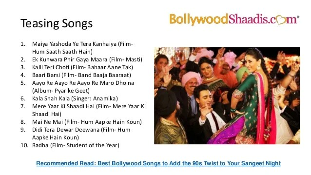 Top 10 Shaadi Songs