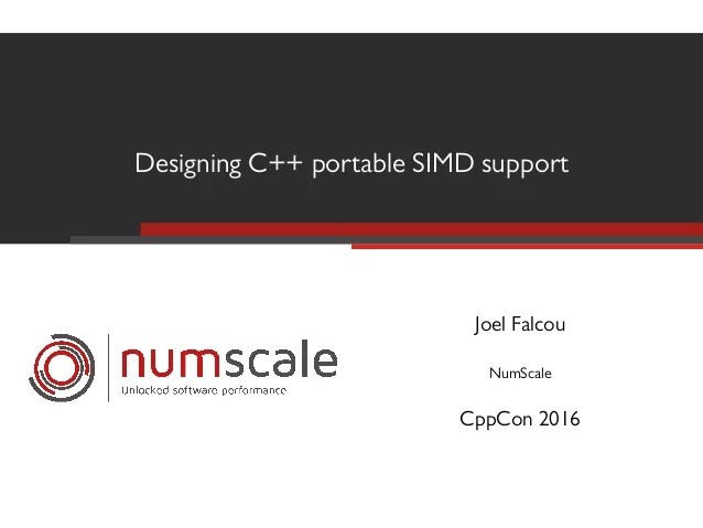 Designing C++ portable SIMD support