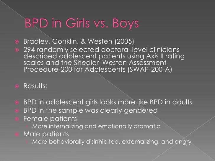 Borderline Personality Disorder In Adolescents