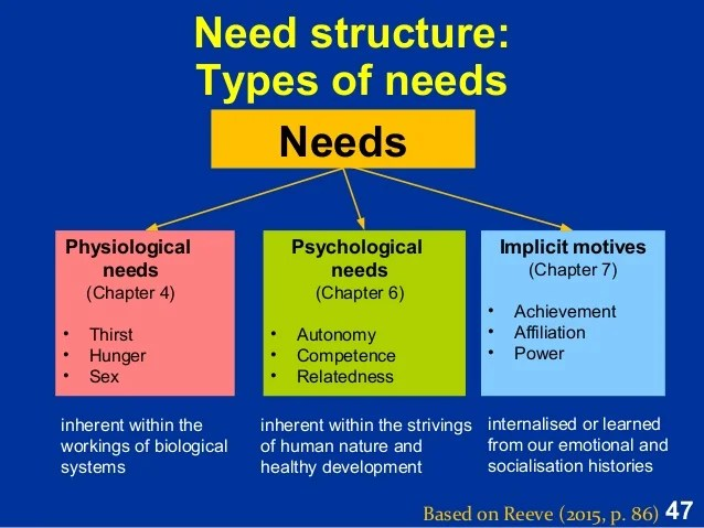 Brain and physiological needs