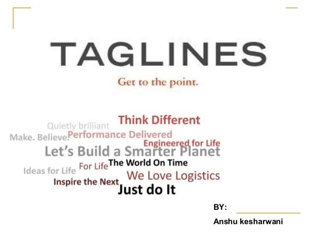 Brand Taglines