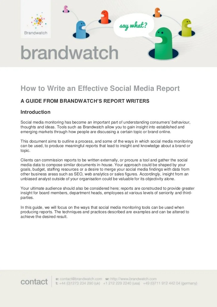 How to Write an Effective Social Media Report