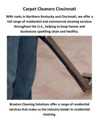 Braxton Carpet Cleaners in Cincinnati, OH