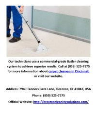 Braxton Carpet Cleaners in Cincinnati, OH