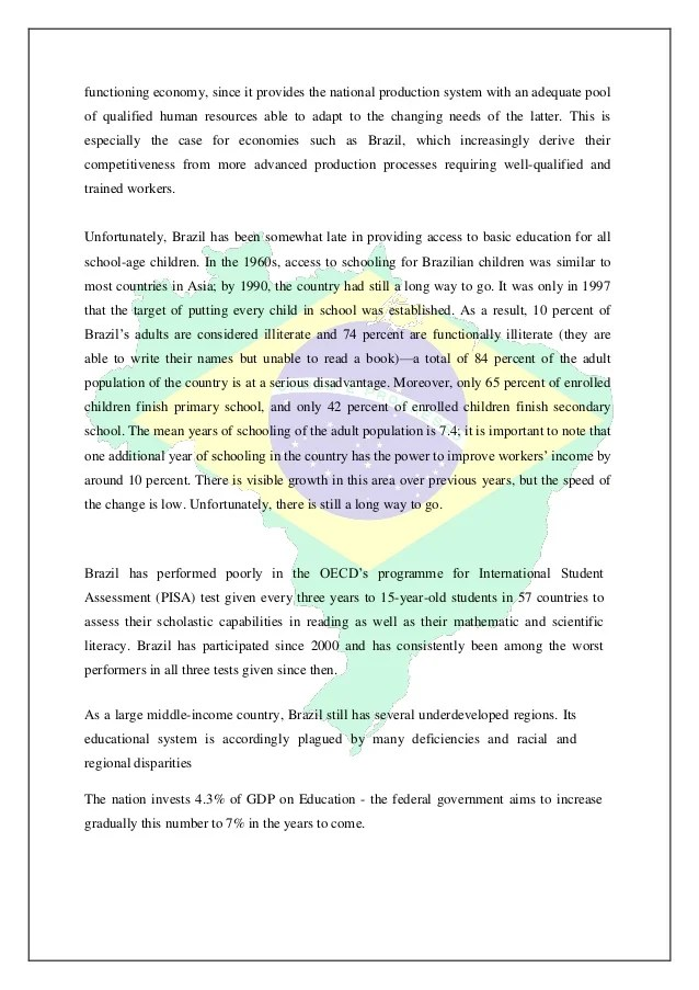 Brazil Country Analysis Report