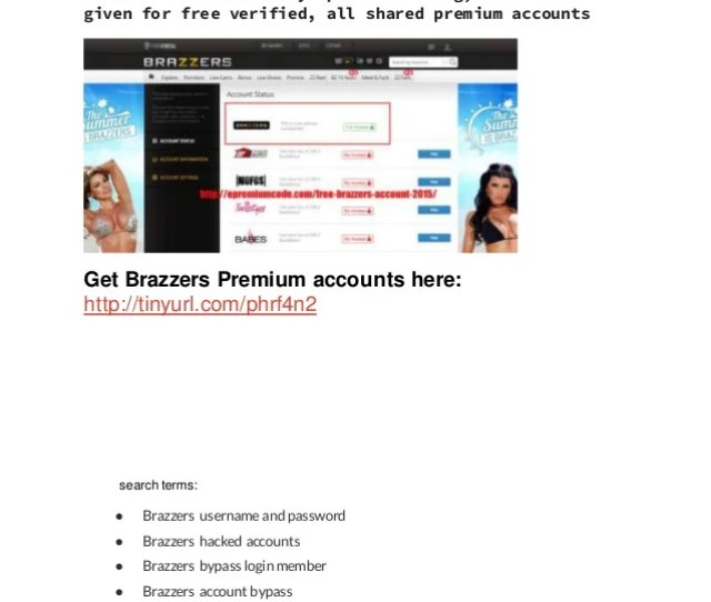 Brazzerspremiumaccount Passwordhackloginbypass Brazzers Accounts Daily Updated Working Full List Given For Free Verified