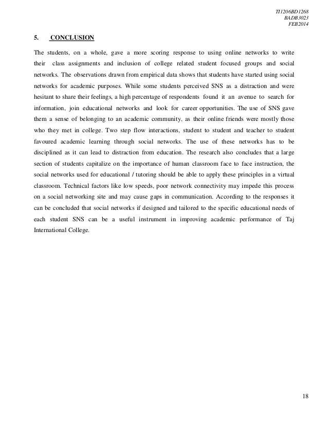 THE EFFECTS OF SOCIAL NETWORKING SITES ON THE ACADEMIC PERFORMANCE OF