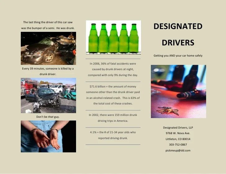 Brochure Example Designated Drivers