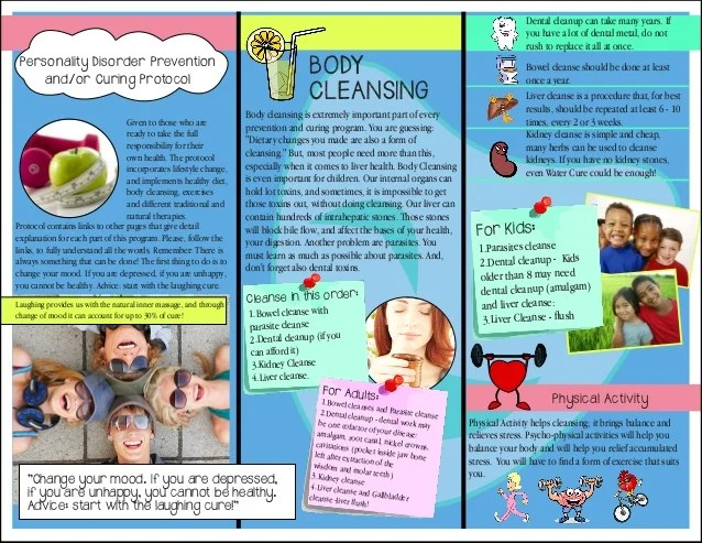 Health Brochure Example Ideal Vistalist Co