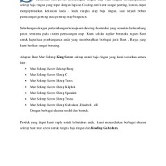 Pemasangan Sekrup Baja Ringan Brosur King Screw Kingtruss Com