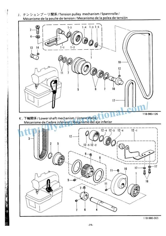 Bernina 1008 Sewing Machine Parts Diagram
