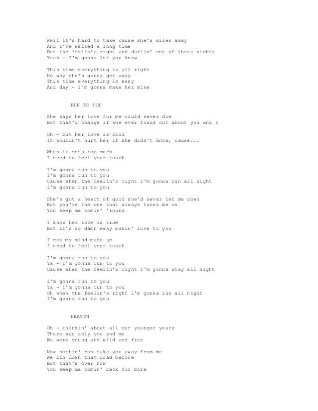 Baby You Know Big Mama Lyrics : lyrics, BRAYAN, ADAMS, LYRICS